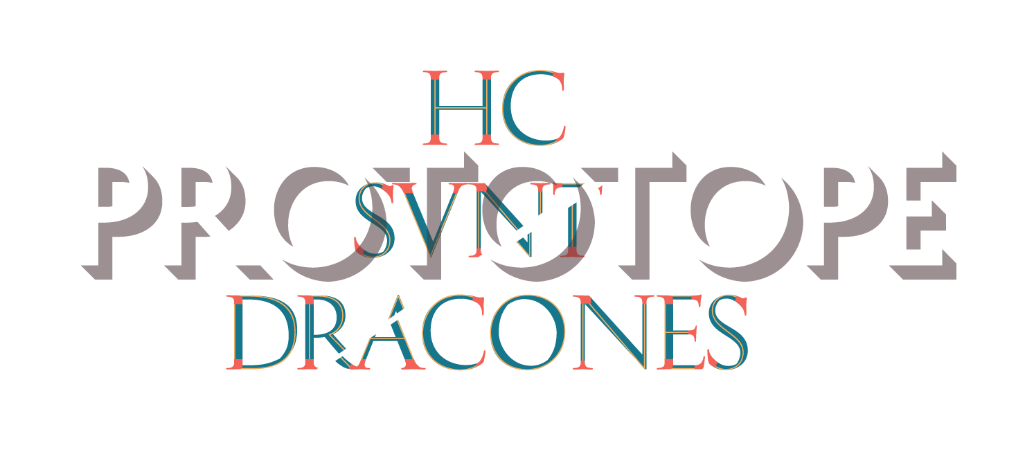 a logo for the project that also reads: hc svnt dracones